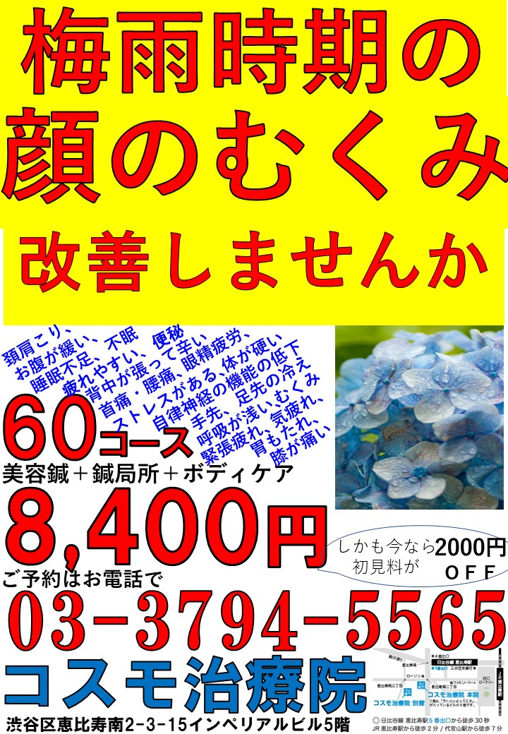 梅雨時期顔むくみ 鍼1.jpg